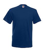 Мужская футболка плотная Fruit of the loom темно-синий, М