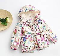 Красивая демисезонная куртка для девочки весна осень