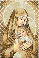 Схема для вышивки бисером иконы Мадонна з дитям (покірність)