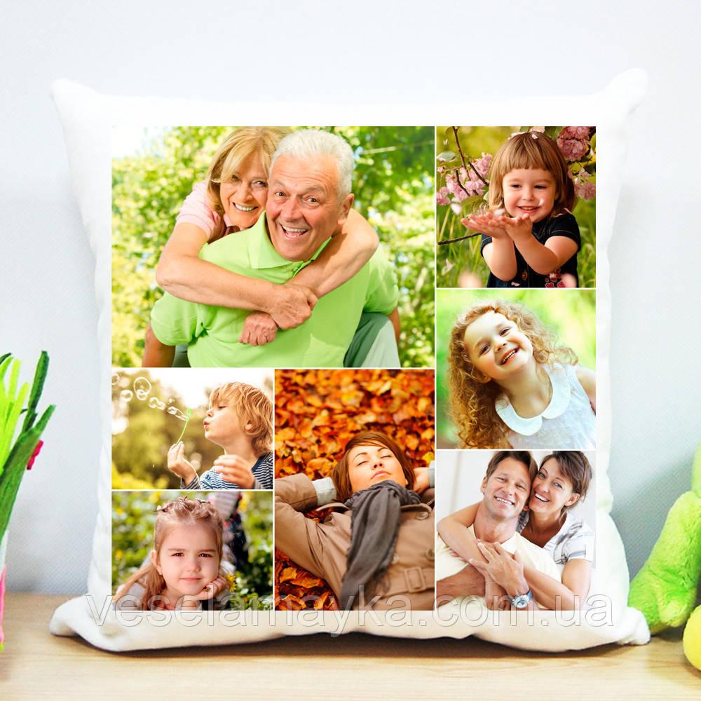 Плюшева подушка (колаж на 7 фото)