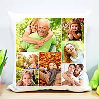 Плюшевая подушка (коллаж на 7 фото)