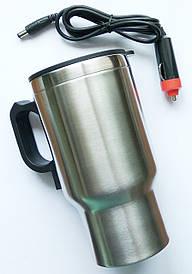 Автомобильная термокружка с подогревом от прикуривателя 12v, CUP 2240 HEATED TRAVEL MUG STAINLESS