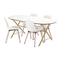 Стол IKEA SLÄHULT/ DALSHULT / LEIFARNE 4 стула