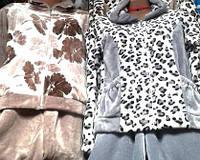 Теплая женская пижама для дома из турецкого велюра, оптом и в розницу