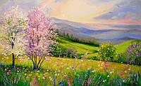 «Весна в горах» картина маслом