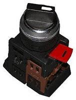 Перемикач АС-22 чорний на 2 фіксір.положення I-O 1з+1р ІЕК (шт.)