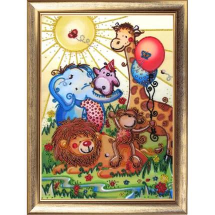 """Набор для вышивания бисером """"Веселый зоопарк."""", фото 2"""