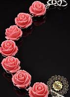 Браслет Полимерная глина розовые розы