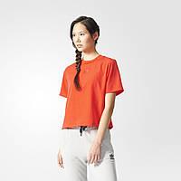 Укороченная футболка женская для спорта Adidas Originals BK6119 - 2017