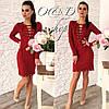 Женское стильное платье со шнуровкой в расцветках. Оц-55-0117, фото 3