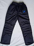 Теплые зимние штаны детские, синие