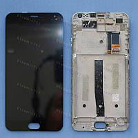 Оригинальный ЛСД экран и Тачскрин сенсор Meizu M2 Note модуль с рамкой