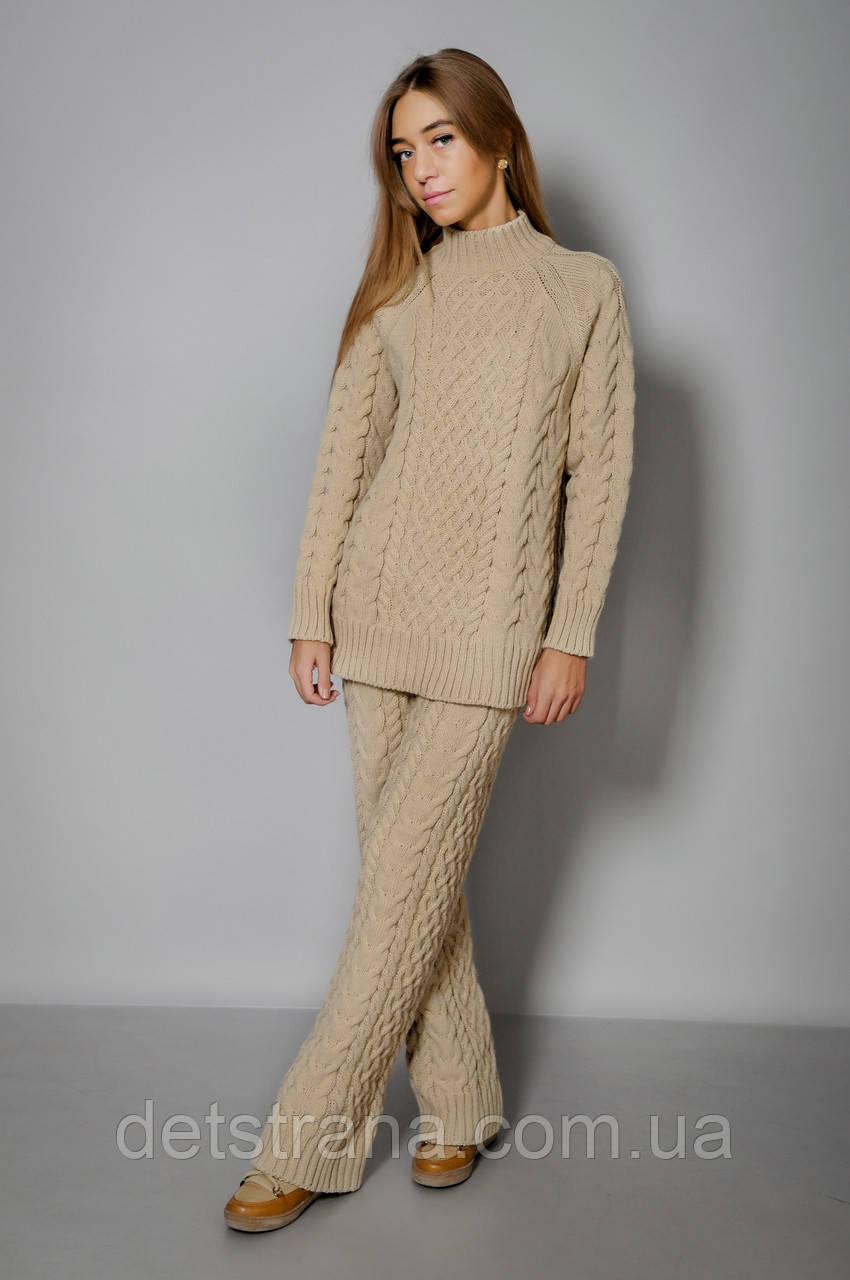 Женский вязаный костюм (свитер и брюки): продажа, цена в ...