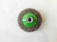 Коническая щетка из нержавеющей стали 100 x 0.35 мм. М14