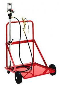 Установка для раздачи консистентных смазок под  тару 180-200 кг.