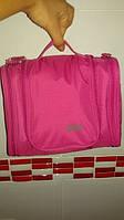 Большая малиновая косметичка, сумка, органайзер, несессер, кейс в отпуск, женская, на подарок