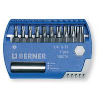 Набор бит 1/4 '' R-TX 11 шт. с магнитным держателем для бит, в пластиковом кейсе.