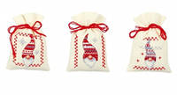 """Набор для вышивания крестом  VERVACO """"Набор мешочков Christmas gnomes (Рождественские гномы)"""""""
