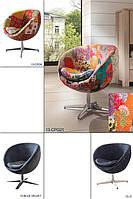 Кресло Swivel Chair Studio. Поворотная нога полированная сталь, каркас металлический,ткань вышита вручную. Хендмейд. Индия.