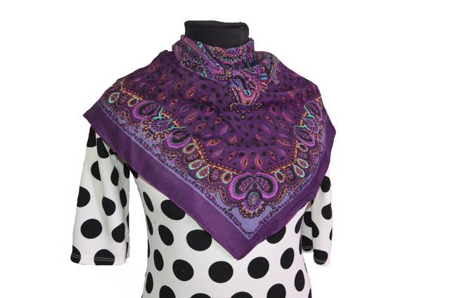 Платок Фелиция фиолетовый 1
