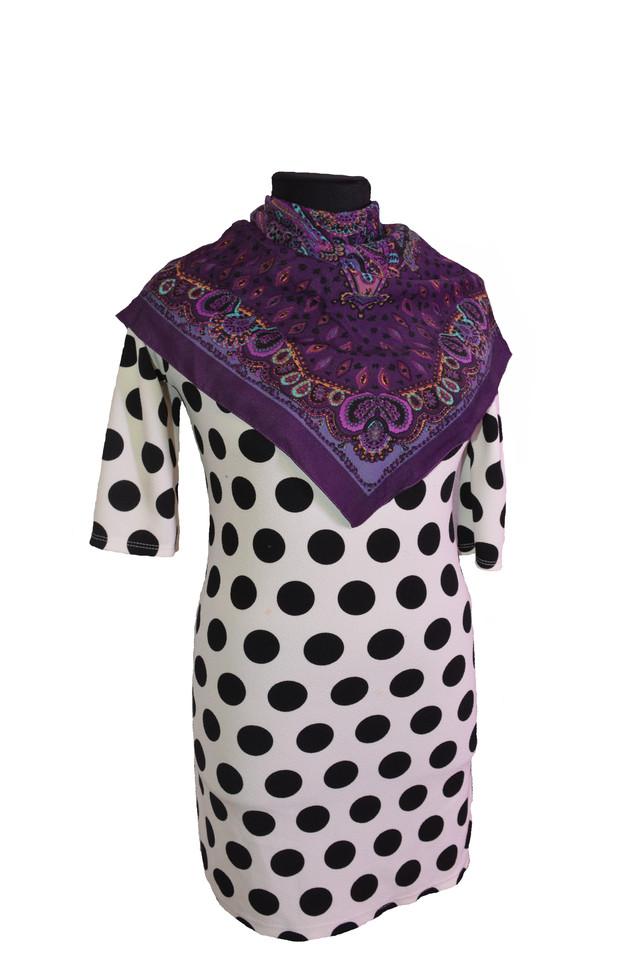 Платок Фелиция фиолетовый 2