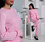 Женский стильный вязанный костюм: свитер и штаны (4 цвета) Турция, фото 3