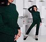 Женский стильный вязанный костюм: свитер и штаны (4 цвета) Турция, фото 4