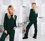 Женский стильный вязанный костюм: свитер и штаны (4 цвета) Турция, фото 8