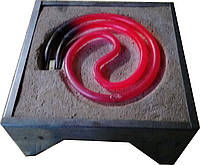 Электроплита настольная Тэновая1,0 кВт квадратная
