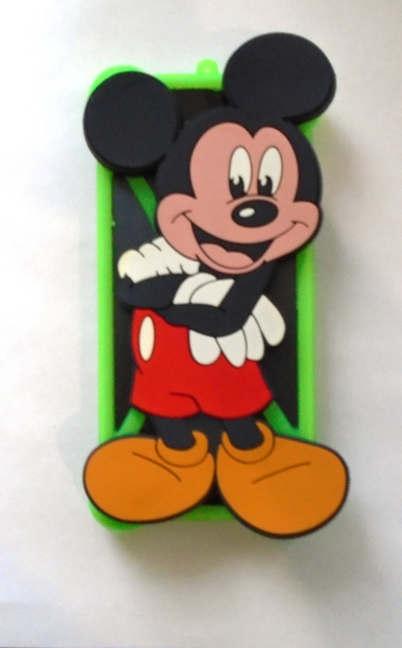 """Яркий универсальный чехол бампер с шарами и большим рисунком Микки Маус для 4""""-5,5"""