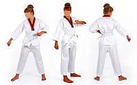 Добок кимоно для тхэквондо WTF CO-012 (хлопок 35%, полиэстер 65%, р-р 1-8 (110-180см), 240 г на м2)