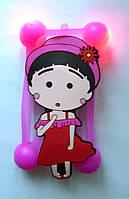 """Светящийся яркий универсальный чехол бампер с шарами и большим рисунком девочка для 4""""-5,5, фото 1"""