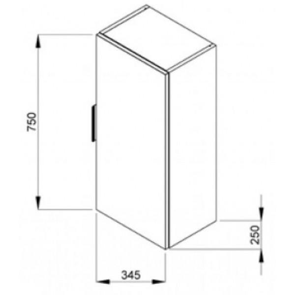 jika Пенал JIKA Cube 34,5 см H4537111763001
