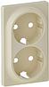 Лицевая панель двойной силовой розетки слоновая кость 754951 Legrand Valena Life
