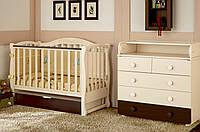 Детская кроватка Prestige 5 с пеленальным комодом VIP