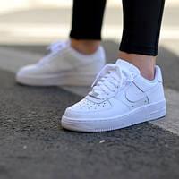 Женские кроссовки Nike Air Force белые, 37 38 39 40 41 размеры