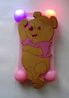 """Светящийся яркий универсальный чехол бампер с шарами и большим рисунком Винни для 4""""-5,5, фото 1"""
