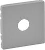 Лицевая панель телевизионной TV розетки алюминий 754762 Legrand Valena Life