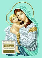 Схема для вышивки бисером иконы Мадонна з дитям (благодать)