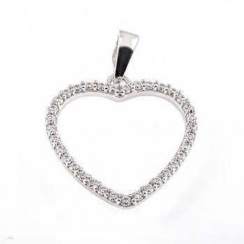 Кулон из серебра Сердце