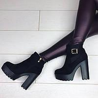 Осенние ботинки женские на каблуке