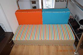 Комплект прямоугольных мебельных подушек с отделкой кантом по периметру
