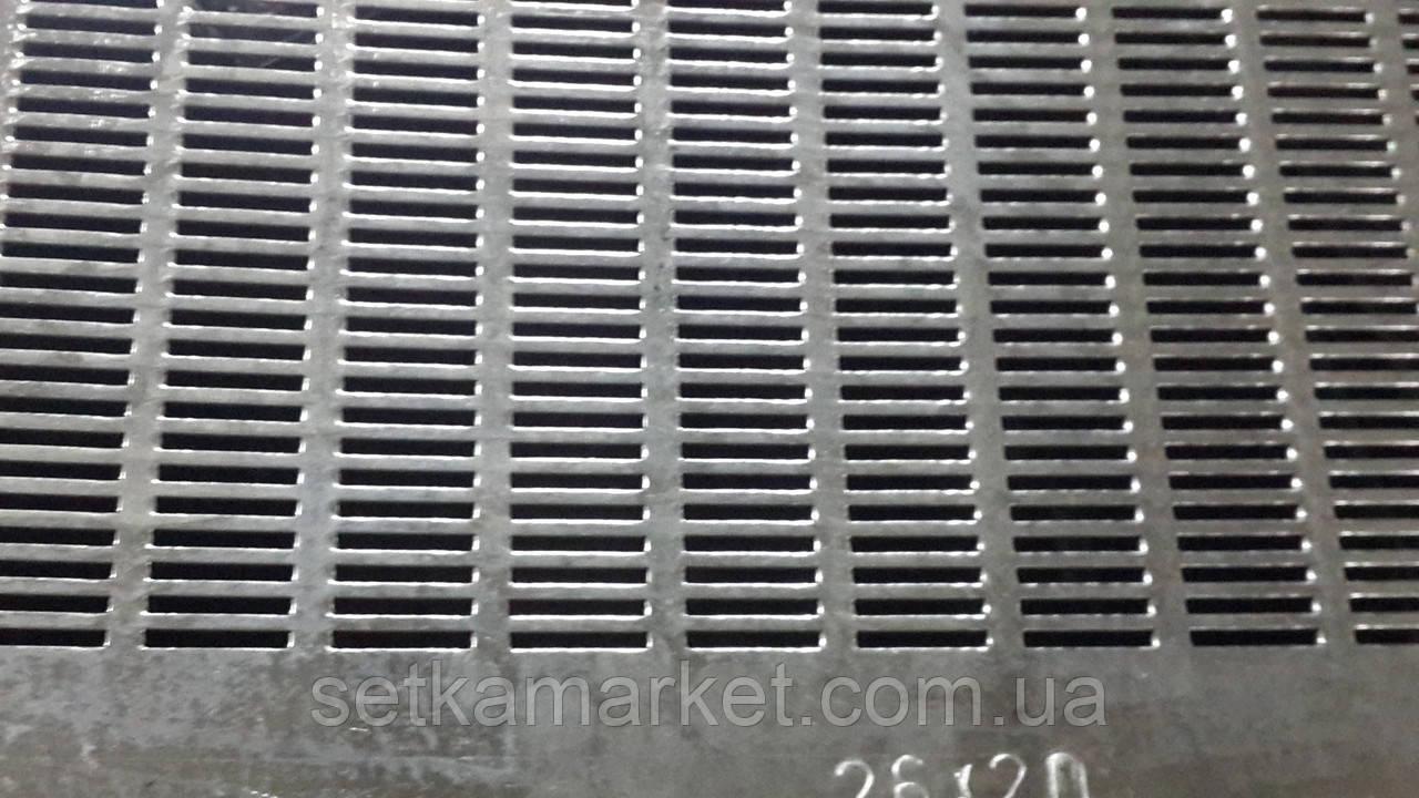 Решето (сито) ОВС-25, товщина 0.8, комірка 2.2х20 мм, оцинкований метал