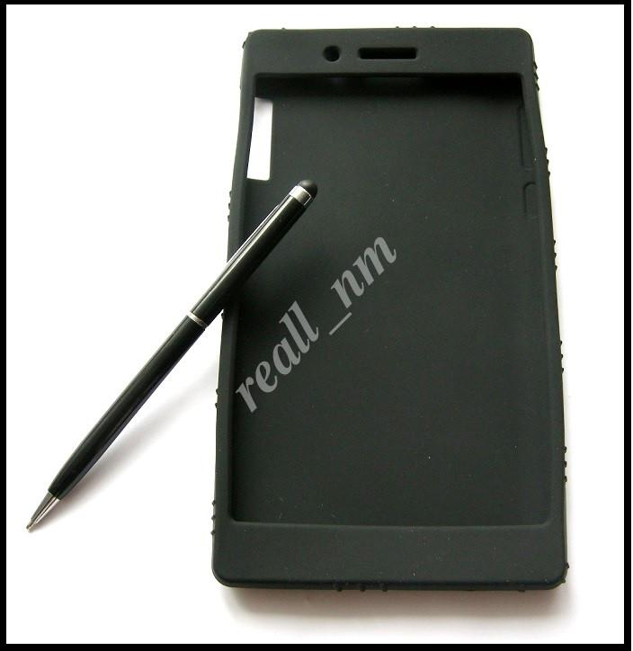 Черный силиконовый чехол для планшета Lenovo Tab 3 730X tab 3-730X, чехол накладка бампер