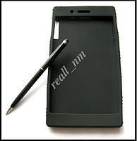 Черный силиконовый чехол для планшета Lenovo Tab 3 730X tab 3-730X, чехол накладка бампер, фото 1