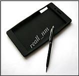 Черный силиконовый чехол для планшета Lenovo Tab 3 730X tab 3-730X, чехол накладка бампер, фото 2
