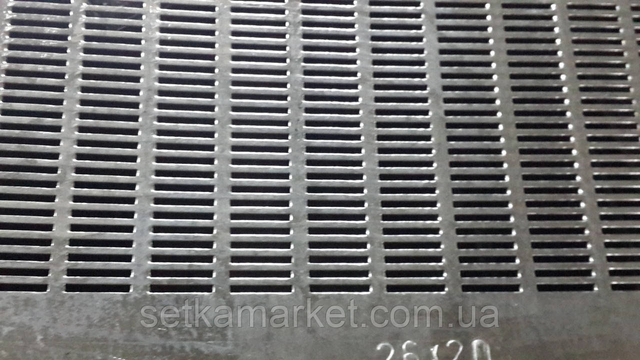 Решето (сито) ОВС-25, толщина 0.8, ячейка 2.6х20 мм, оцинкованный металл