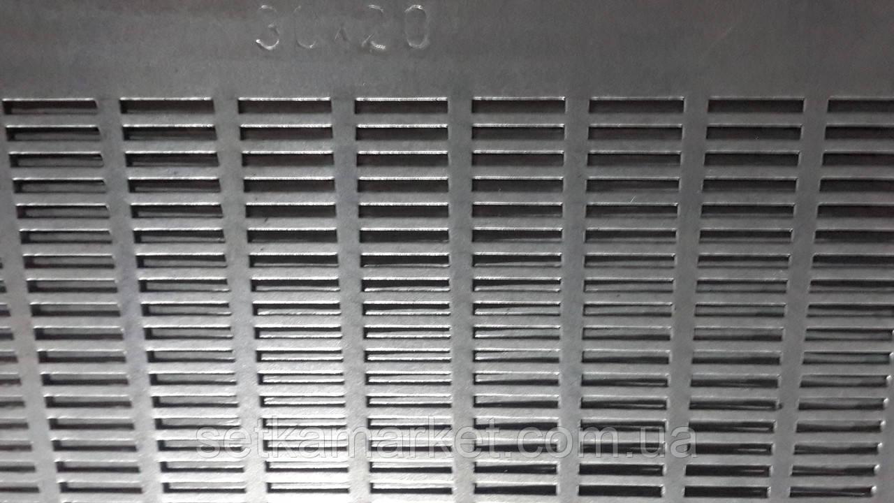 Решето (сито) ОВС-25, товщина 0.8, клітинка 3.0х20 мм, оцинкований метал