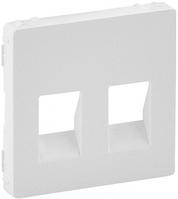 Лицевая панель двойной аудио розетки белая 755370 Legrand Valena Life