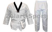 Добок кимоно для тхэквондо WTF UR DR-1559 (хлопок 65%,полиэстер 35%, р-р 34-42 (134-164см),260 г-м2)